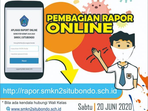 Rapor Online Semester Genap Tahun Pelajaran 2019/2020