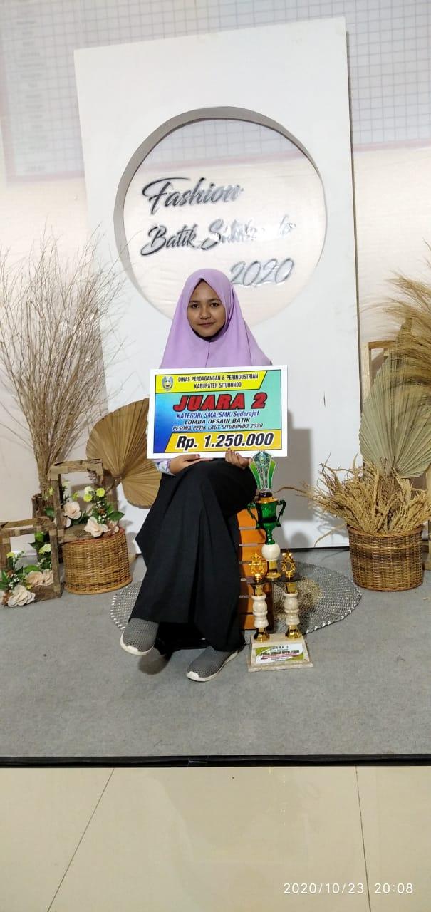 Juara 2 Lomba Desain Batik 2020 dengan Tema Pesona Petik Laut Situbondo